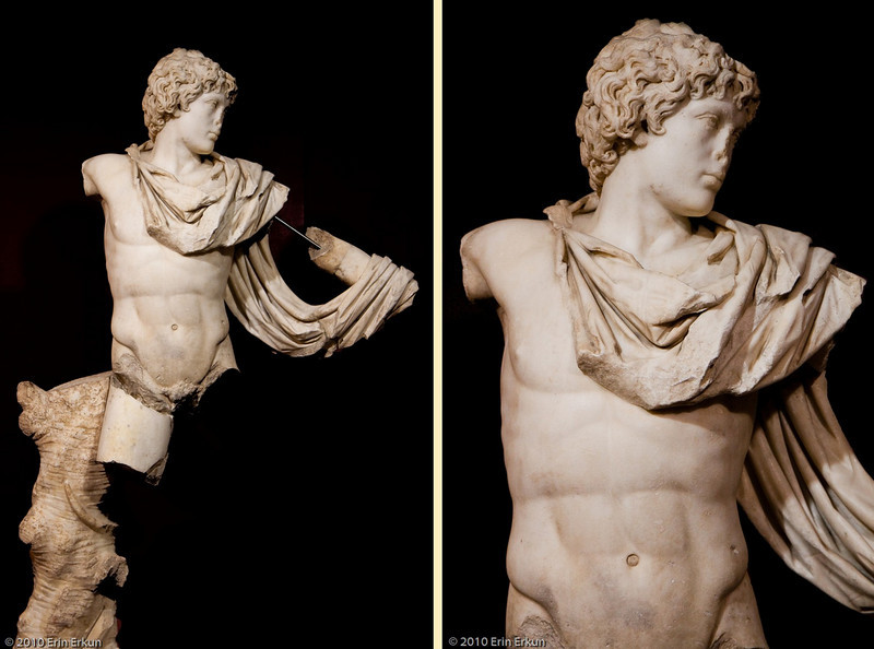 20 April 2010<br /> İzmir Museum of Archaeology<br /> Antinous as Androclos - the founder of Ephesus (Roman Period - 138-161 AD, Ephesus)