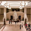 "13 March 2010<br /> US Capitol Visitor Center<br /> The statue in the center is the plaster cast of ""Freedom,"" which sits atop the Capitol dome."