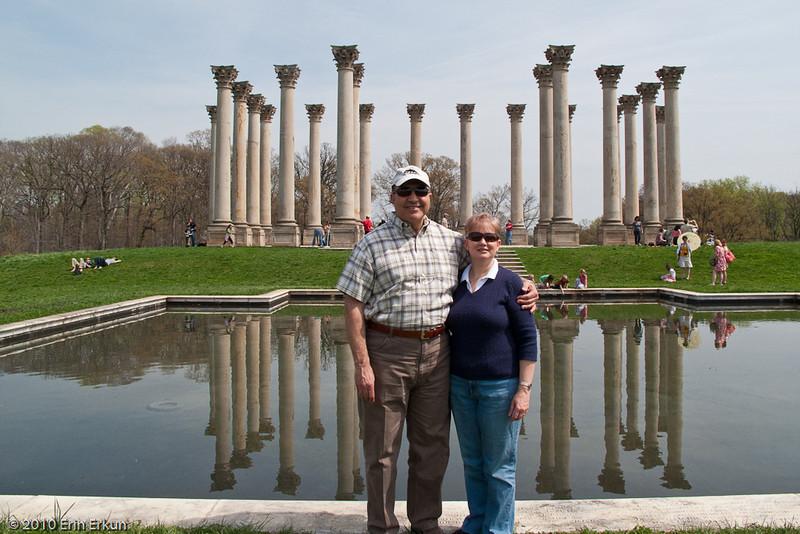 3 April 2010<br /> US National Arboretum<br /> Photo op at the columns.