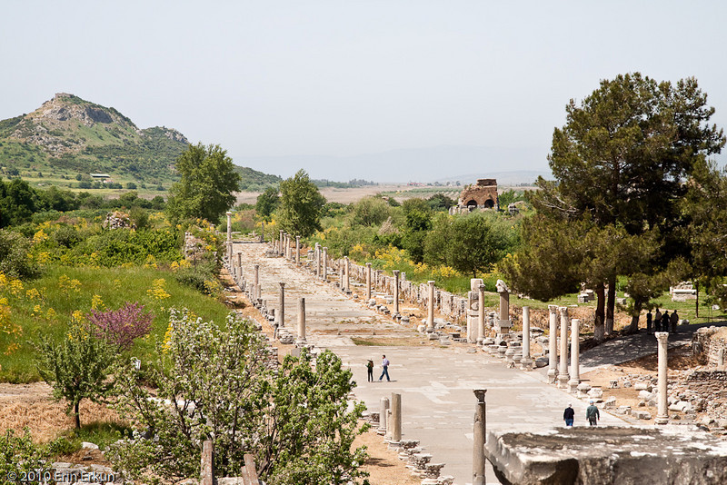 18 April 2010<br /> Ephesus - Glimpse of Arcadian Street from the Great Theater.
