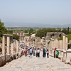 18 April 2010<br /> Ephesus - View down Curetes Street towards the Celsus Library.