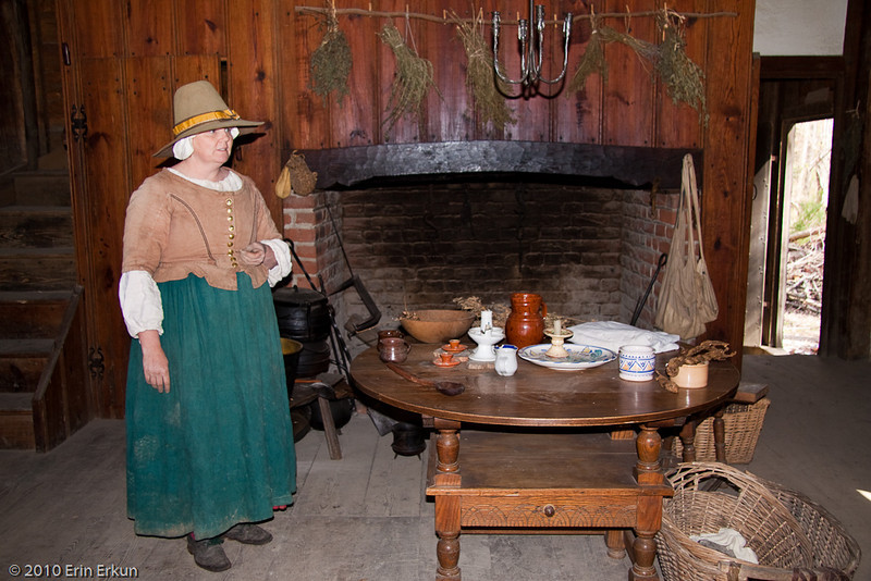 27 March 2010<br /> Historic St Mary's City Living Exhibit  - The Godiah Spray Tobacco Plantation<br /> Mistress Spray talks to us about her responsibilities as the wife of a successful plantation owner.