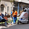 20 April 2010<br /> Konak - Street cleaner at work.