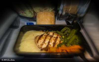 Lunch service on the return flight to the US. 22 Oct 2012