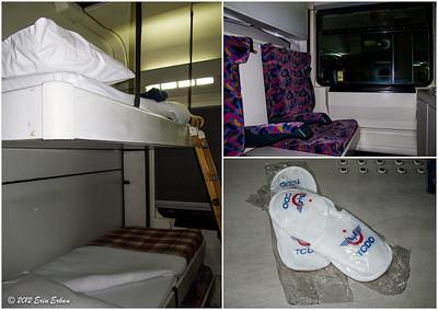 Sleeper compartment on the overnight Mavi Tren from Eskiṣehir to İzmir. 15 Oct 2012