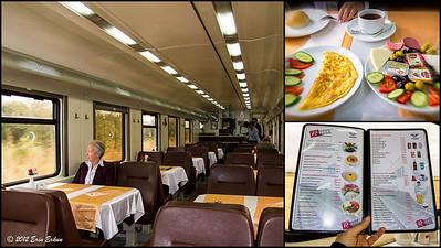 Dining Car on the overnight Mavi Tren from Eskiṣehir to İzmir. 15 Oct 2012
