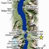 Map of Maligne Lake