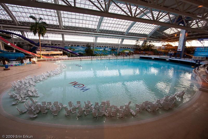 During the daytime, the waterpark is a happening kind of place.  Not so after hours.