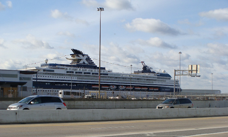 Mercury Cruise - R/T from Baltimore - November 30-December 12<br /> The ship is visible from the freeway in Baltimore.