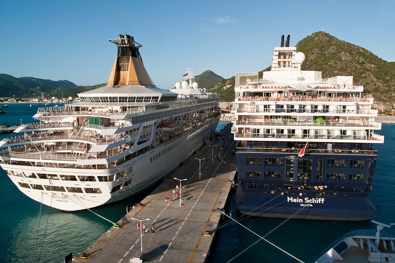Mercury Cruise - R/T from Baltimore - November 30-December 12<br /> P&O's Artemis and Mein Schiff, the former Galaxy, in port with Mercury.