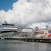 Mercury Cruise - R/T from Baltimore - November 30-December 12<br /> Mercury is joined by two ships in St John's, Antigua - Explorer of the Seas and Ocean Village.
