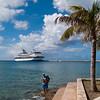 Mercury Cruise - R/T from Baltimore - November 30-December 12<br /> Mercury at the long cruise ship dock in Frederiksted - St Croix.