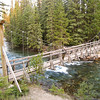 We start the Maligne Canyon hike at 5th Bridge.