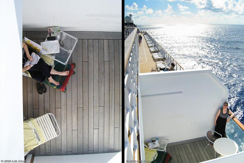 Mercury Cruise - R/T from Baltimore - November 30-December 12<br /> Someone's Enjoying the Veranda!
