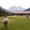 At the Mount Robson Visitor, we get out to stretch our legs and see the highest peak in the Canadian Rockies.