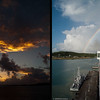 Mercury Cruise - R/T from Baltimore - November 30-December 12<br /> Sunrise as we approach Antigua is followed by a rainbow by the time we're docked in St John's.