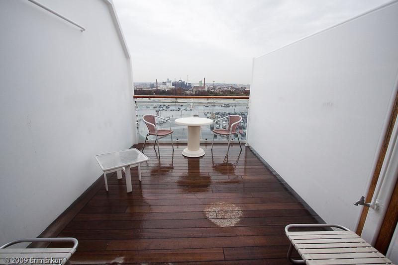 Mercury Cruise - R/T from Baltimore - November 30-December 12<br /> Love the size of the veranda!