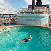 Mercury Cruise - R/T from Baltimore - November 30-December 12<br /> Mui takes a refreshing dip in the pool!