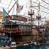 Replica of Columbus's Santa Maria, complete with pirates and a sunken treasure.