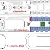 Mercury Cruise - R/T from Baltimore - November 30-December 12, 2009<br /> Deck Plans for decks 11 through 14.