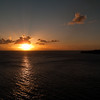 Mercury Cruise - R/T from Baltimore - November 30-December 12<br /> Sunset sailing away from St Kitts