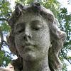 An angel's face in Oakwood Cemetery, Atlanta Georgia.