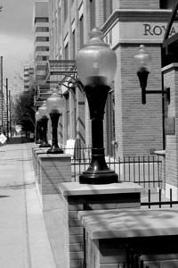 Lights outside Vintage Towers