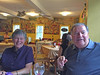 Suzanne and Frank Mieso at the Glen Caffe, Winchendon, MA. 8 July 2016.