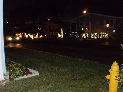 Christmas lights across our street