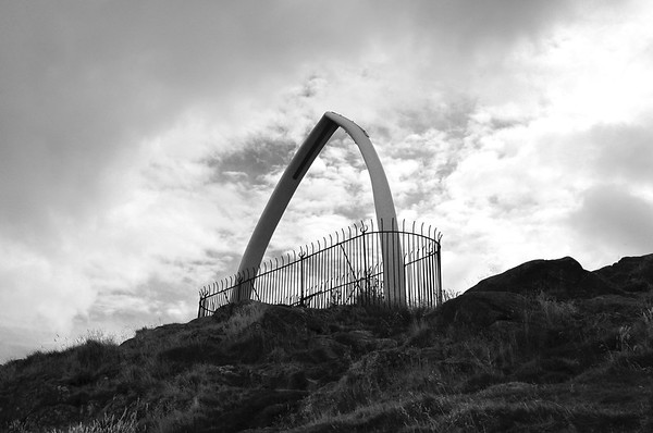 Whale bones at the top of North Berwick Law