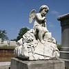 A cherub in Oakwood Cemetery, Atlanta Georgia.