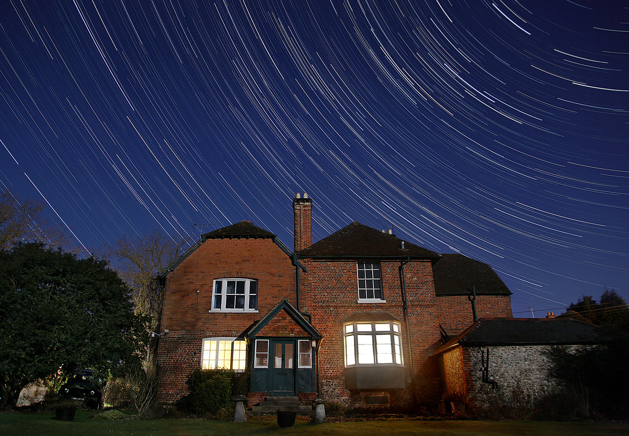 Startrails over my Home