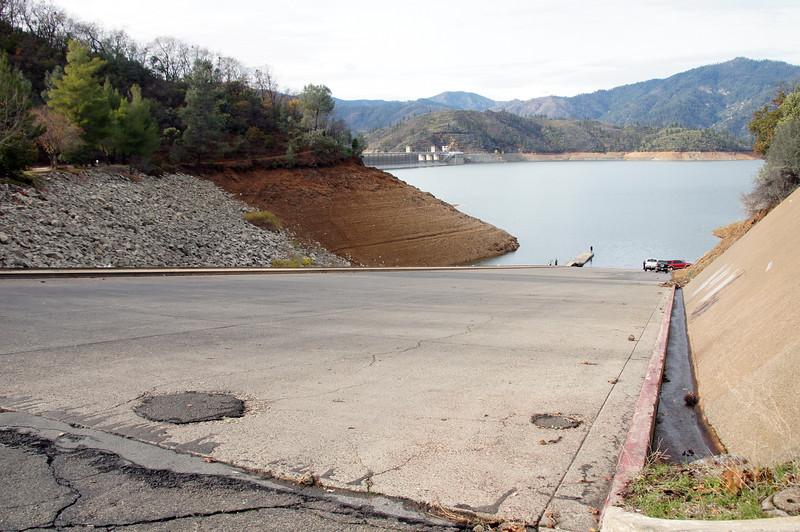 Lake Shasta down about 50' Dec 3, 2012