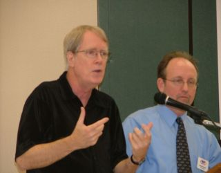 President of TBCS, Dave Dockery<br /> Chuck Vroman