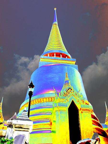 Thai temple (processed)