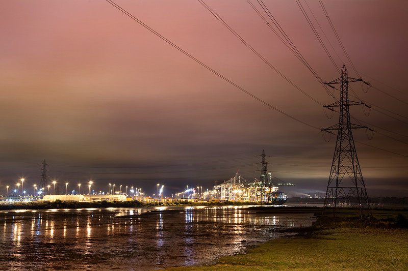 Southampton Docks at Night