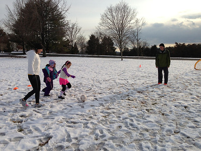 Snow soccer, March 2013
