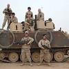 My friend Clint in Iraq (gun turret on the right).