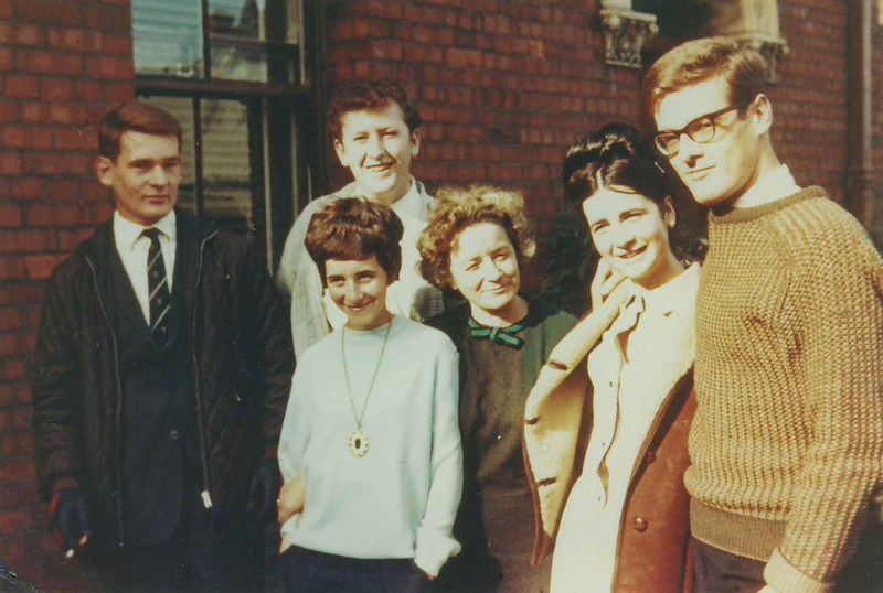 Bob Bywater and brother, plus Clive Williams and his younger borther Paul, on tour in Cork