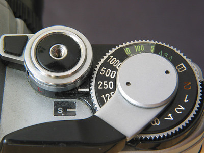 Closeup of Cly's old Canon AE-1.