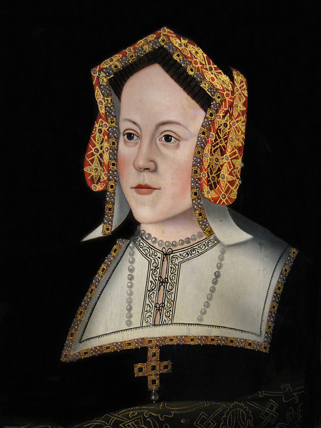 Painting of Catherine of Aragon (1485-1536), first wife of Henry VIII. Hampton Court.