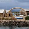 Houses on Floating Island. Lake Titicaca, Peru