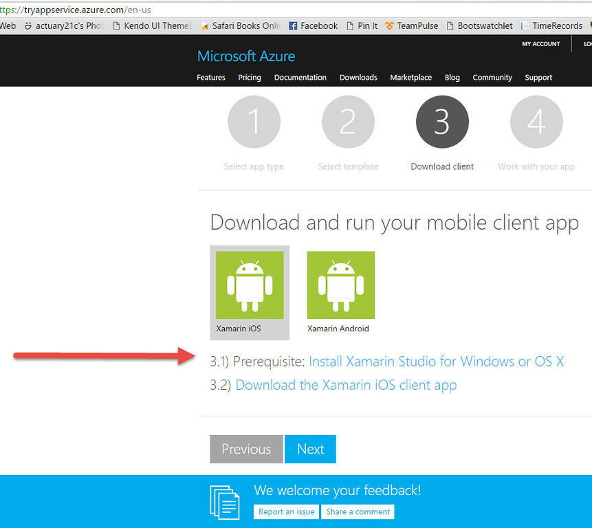 No Windows version apparently for Azure Mobile App templates?