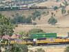 Tehachapi Loop railroad spiral loop, near Keene, California.