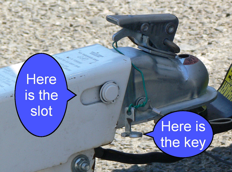 Preventing trailer brakes from locking up when reversing. Put the key in the slot.