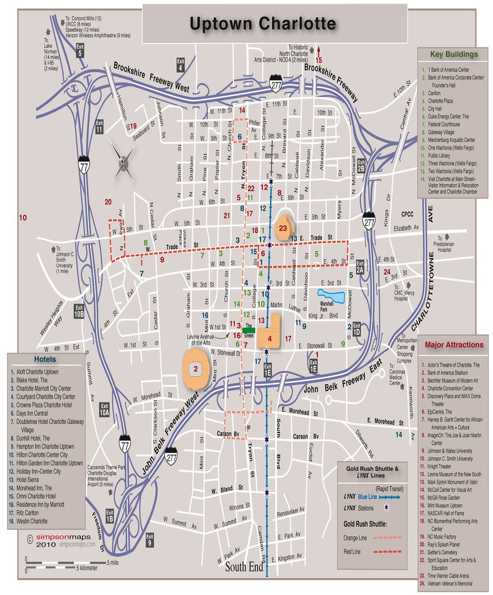 Collection Of Diagram Charlotte Nc Cbd Map Download More Maps - Charlotte usa airport map