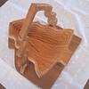 Pine Tree Folding Basket - Sideways