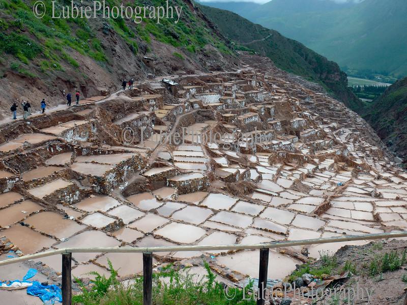 Salt factory in Sacred Valley. Maras, Peru
