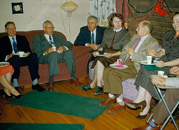 1955-12 - Dick Voas, Holly Vllenweider, Miller Everhart, someone, someone, Elsie Foster