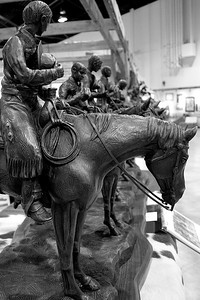 Brass tabletop statuette at the Calgary Stampede in 2006.